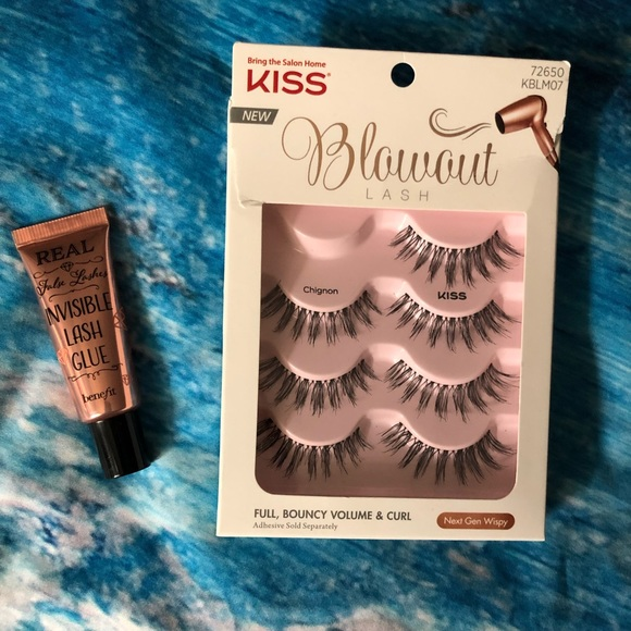 437b9dfefa4 Kiss Makeup | Blowout Eyelashes Benefit Invisible Glue | Poshmark